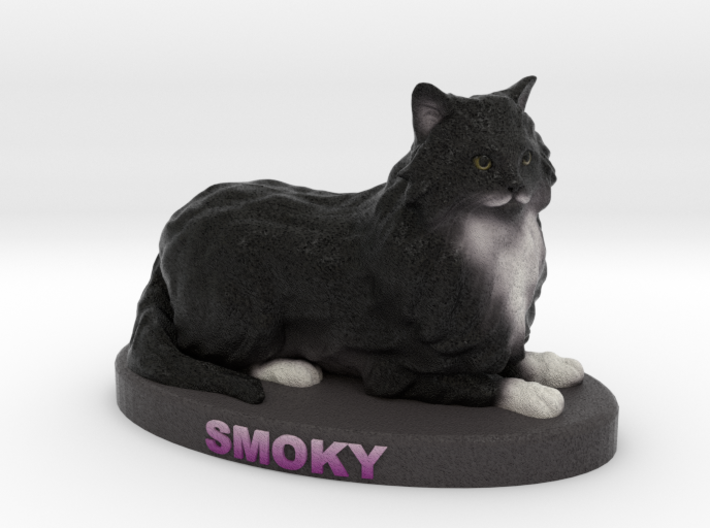 Custom Cat Figurine - Smoky 3d printed