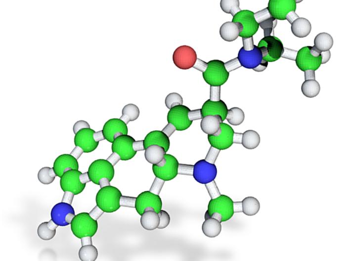 medium lysergic acid model 3d printed