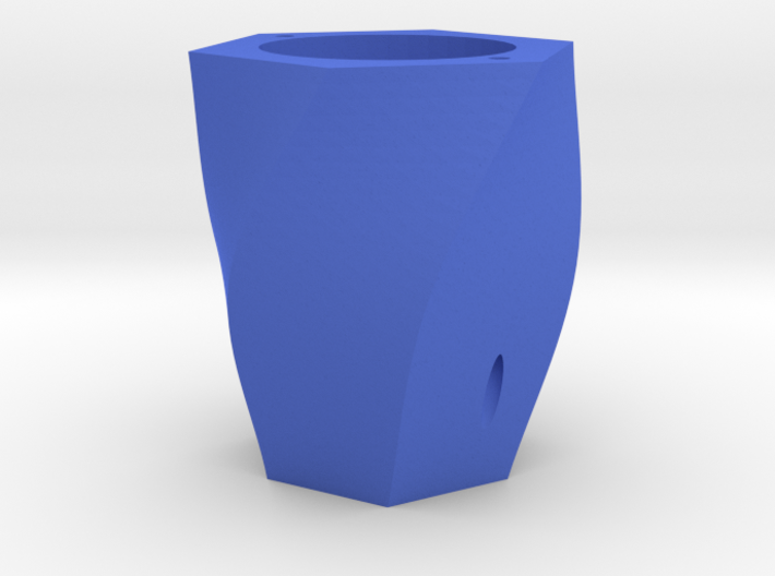 Curved plant pot 3d printed