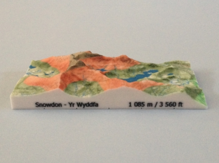 Snowdon - Relief 3d printed Photo of Snowdon - Relief model