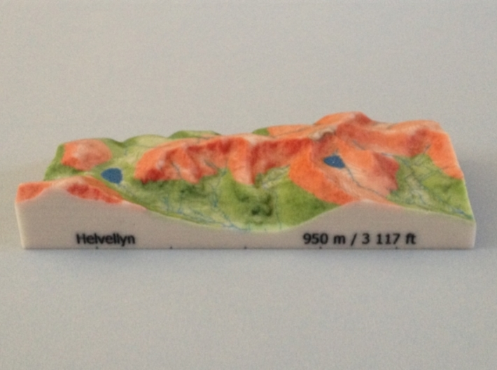 Helvellyn - Relief 3d printed Photo  of Helvellyn - Relief model