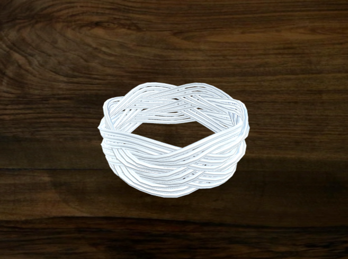 Turk's Head Knot Ring 5 Part X 6 Bight - Size 13.7 3d printed