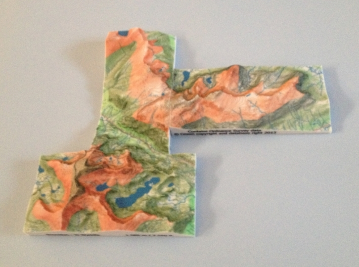 Snowdon - Relief 3d printed Photo of 3 of the 5 adjoining Welsh 3000' models