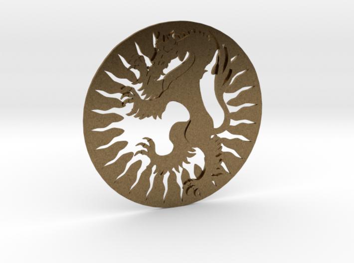 X Heraldic Panther Sporran Badge 3d printed