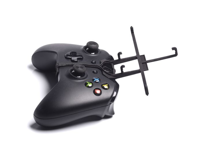 Xbox One controller & XOLO A700s 3d printed Without phone - A Samsung Galaxy S3 and a black Xbox One controller