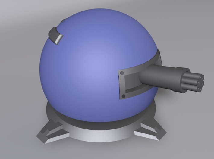 Fieldrunners Gatling Turret 5cm 3d printed 3D render of Fieldrunners Gatling Turret