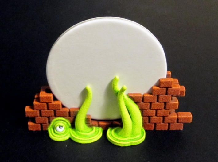 Gate Holders (6 pcs) - Arkham Horror 3d printed Hand-painted White Strong Flexible (back view). 40mm disc for scale.