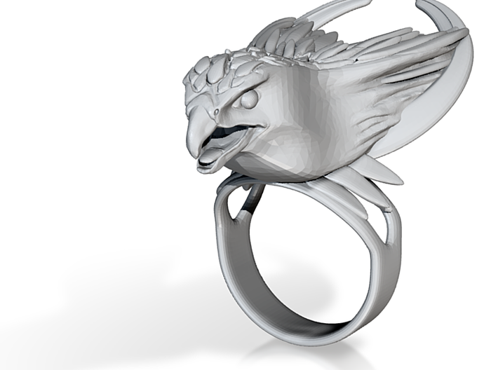 "The ""Moonchaser"" ring (Metal) 3d printed"
