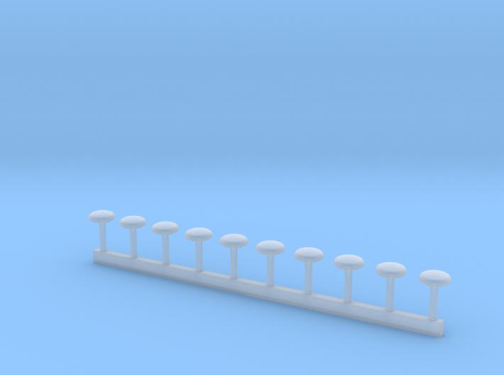 Dachlüfter RTW-KTW 4mm Durchmesser 3d printed