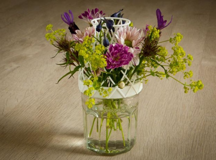 Bell Vase for jar size:89 (6 leads) 3d printed Bell Vase bouquet