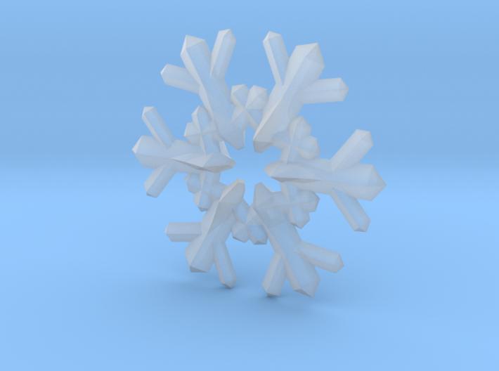 Snow Flake 6 Points F - 4cm 3d printed