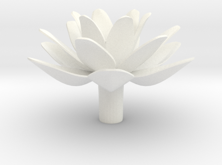 Lotus (Pen Cap) 3d printed