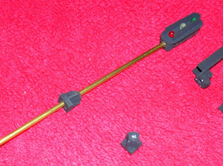 3 Light Signal Kit HO scale 1/87 3d printed assembled signal and parts ready to assemble a second signal