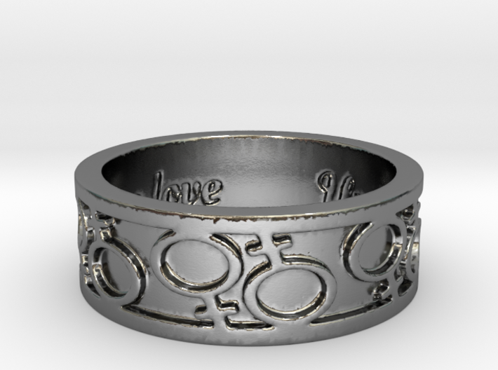 Same Love 1 Ring Size 7 3d printed