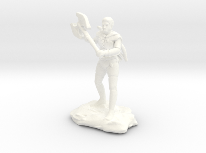 Half Orc Ranger With Greataxe and Shortbow 3d printed