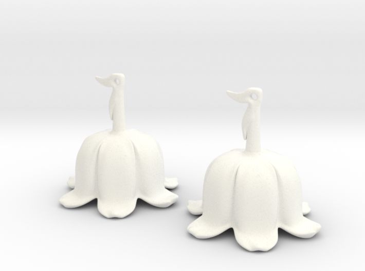 Lily Of The Valley Earrings 3d printed