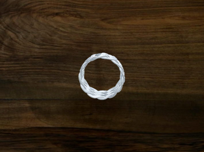 Turk's Head Knot Ring 6 Part X 12 Bight - Size 15. 3d printed