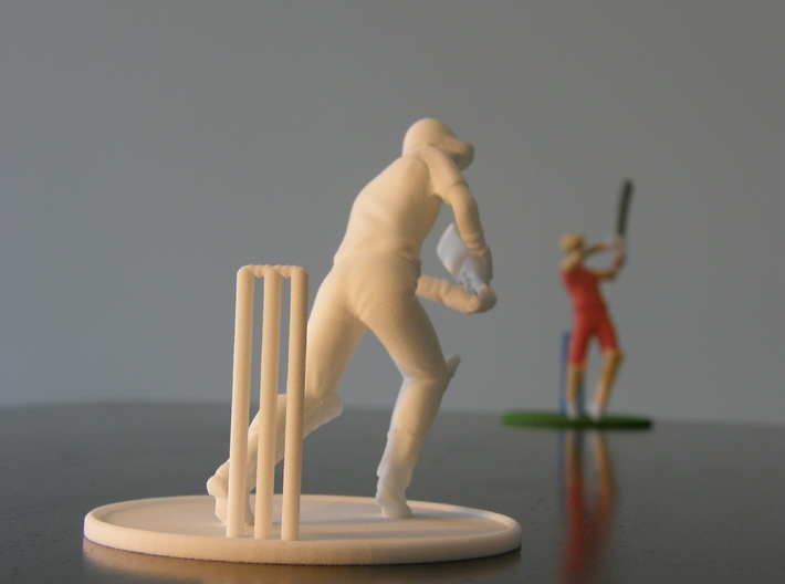 """5"""" cricket player model 3d printed"""