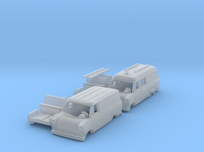SET 2x Ford Transit Mk1 (N 1:160) 3d printed
