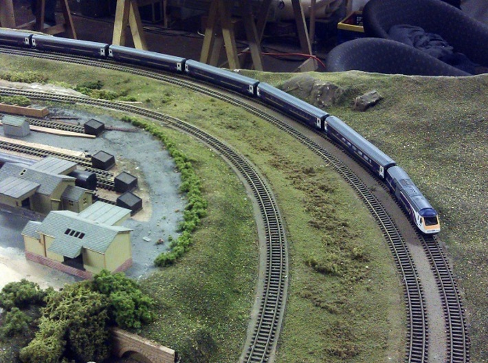 Short Rapido Replacments X 240 - N Gauge 1:160 3d printed Graham Fairish HST Coaches With Old Couplings