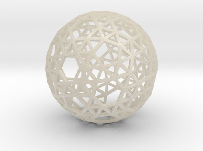Triangulated Sphere 3d printed
