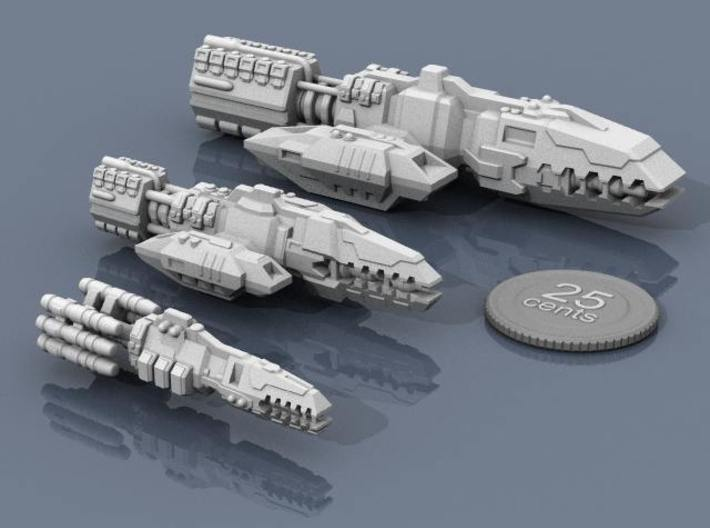 Colonial Guardian 3d printed Colonial ships together.