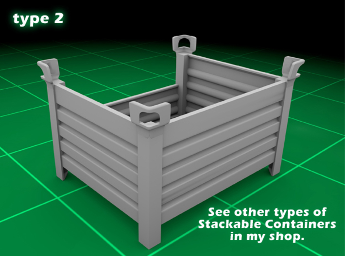 Stackable Container Type2 (1x) 3d printed