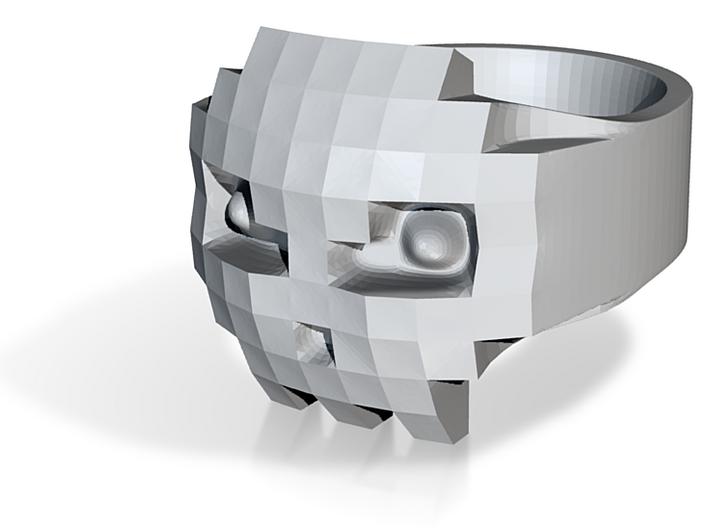 8bits Skull Ring size 59mm Ø18.8 3d printed