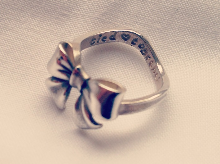 Bow Ring - Friendship ring - Tied together - Size  3d printed