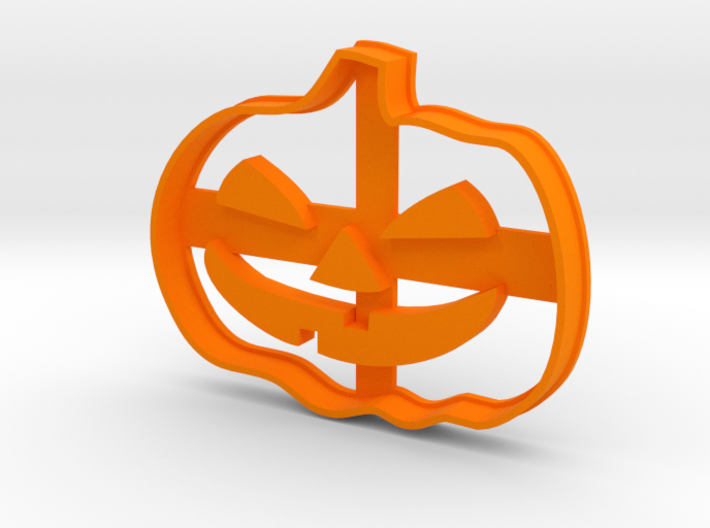 Pumpkin Halloween Cookie Cutter 3d printed