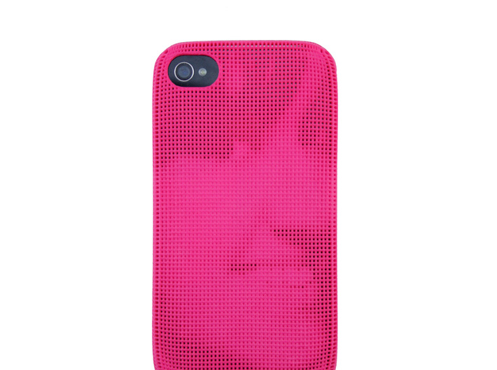 Iphone 4/4S 3D Printed case - Portrait collection 3d printed picture of pink version with phone inside to show the effect.