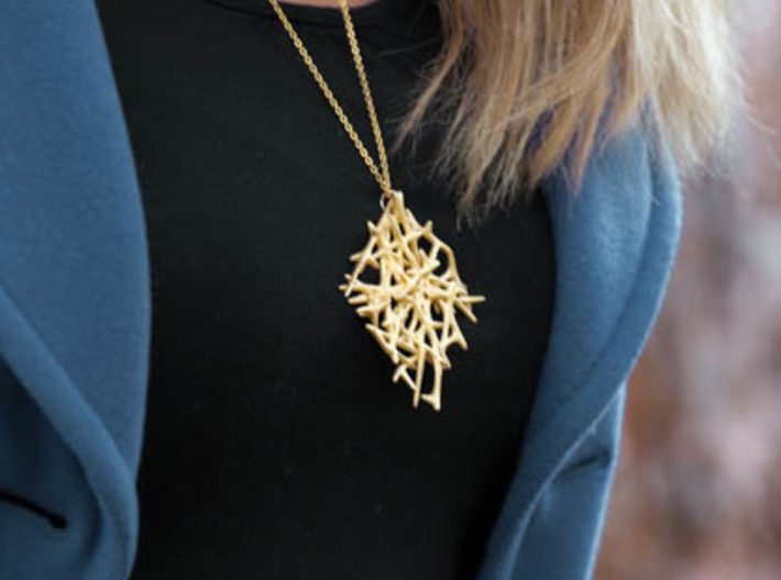 Abstract Mesh Pendant 3d printed
