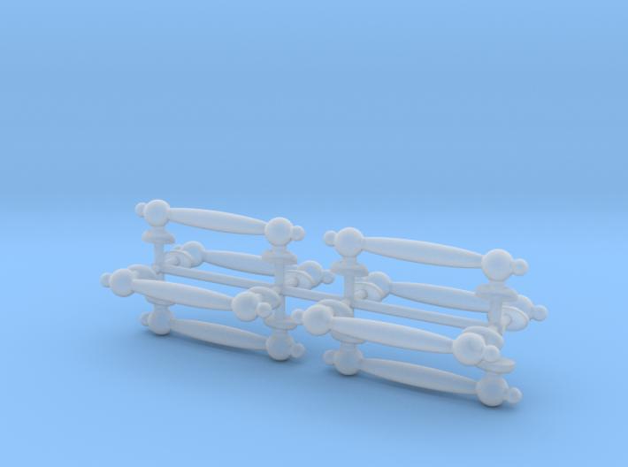 1/6 Scale Handles 3d printed