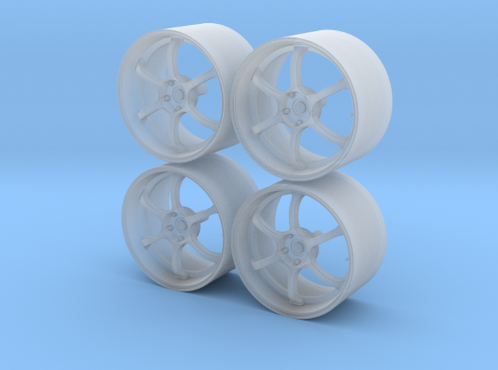 19'' 1/24 scale model wheels (Advan RG-D, male) 3d printed