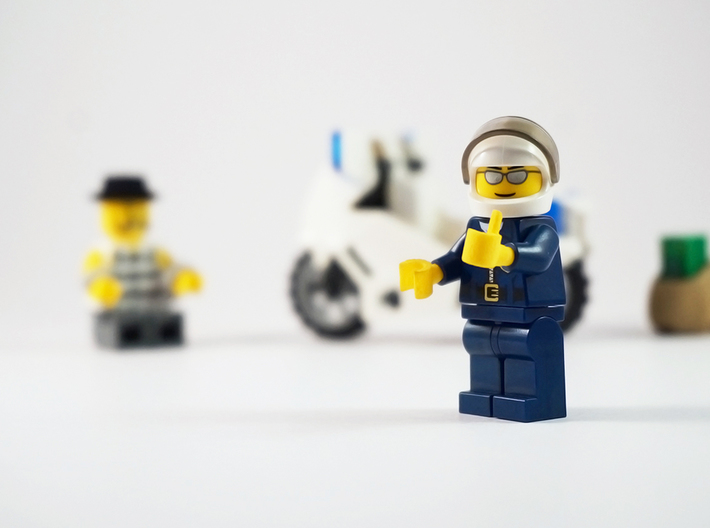 Success hands 3d printed Lego Thumbs Up