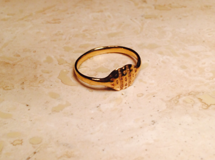 Triss Ring US Size 6 UK Size R 3d printed Gold Plated Brass