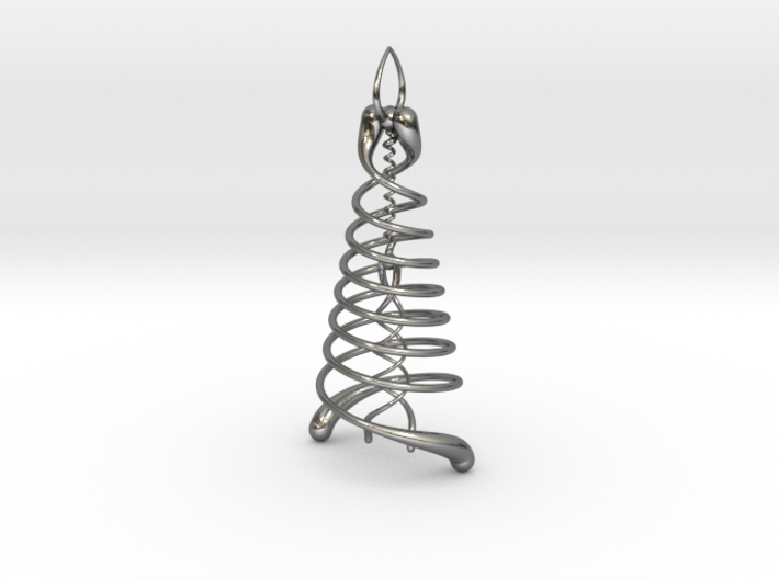 Double Helix Pendant 3d printed