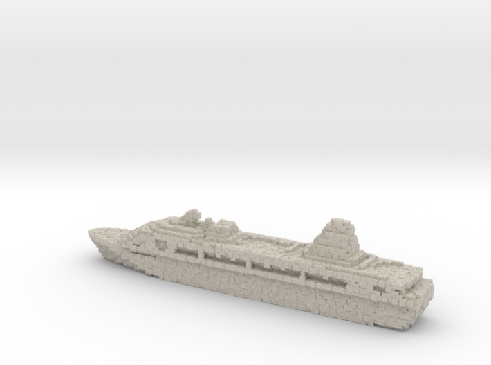 Pixellated Miniature Cruise Ship 3d printed