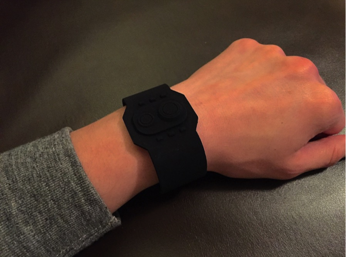 Wrist Comm 3d printed Black Strong and Flexible