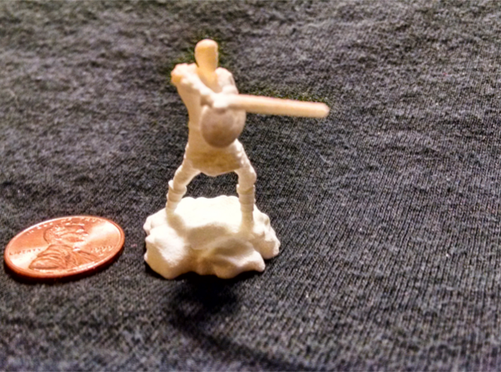 Varis, the Half Elf Fighter Spy 3d printed
