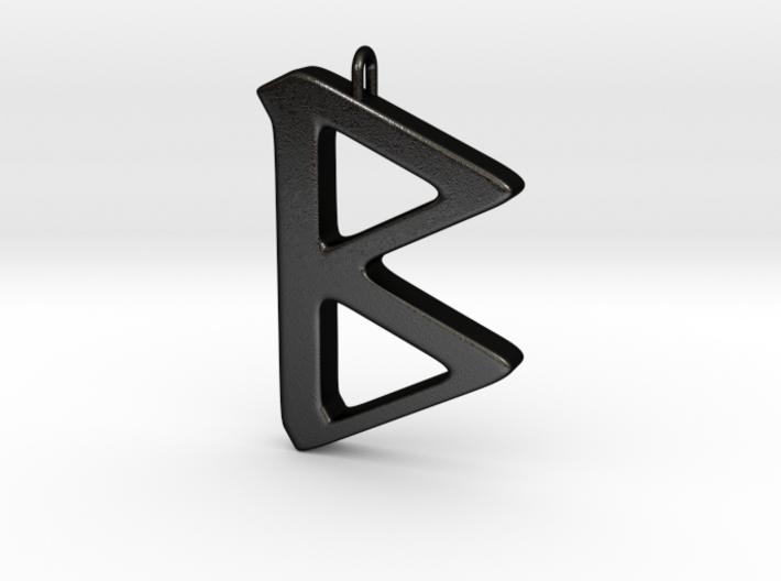 Rune Pendant - Beorc 3d printed