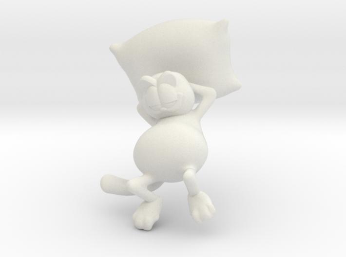 Garfield resting 3d printed