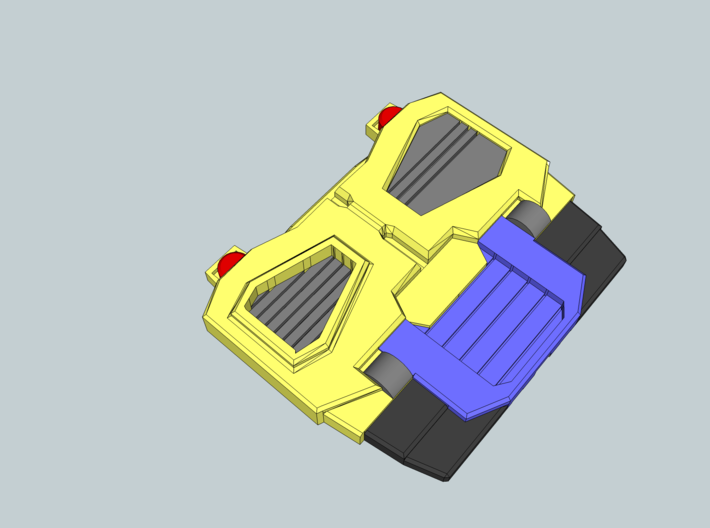 Sleuthing Robot Chest Parts V1.2 3d printed