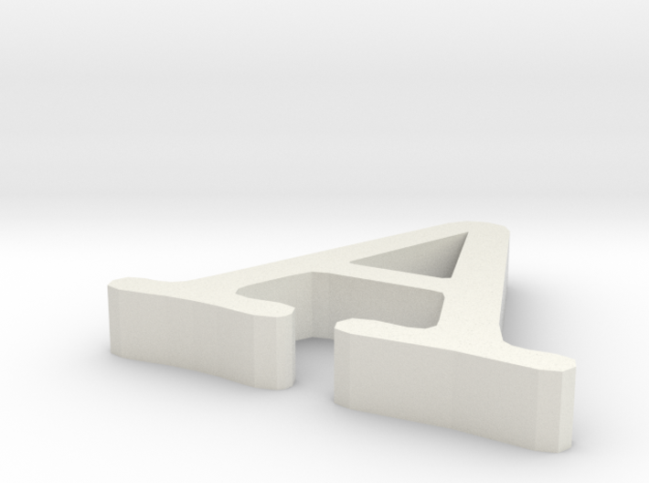 Letter A 3d printed