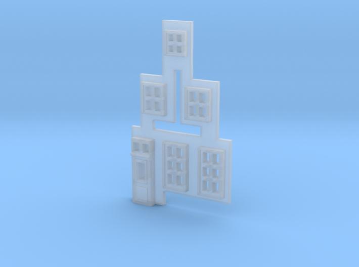 Gevel 1 in schaal Z, hiervan de ramen 3d printed