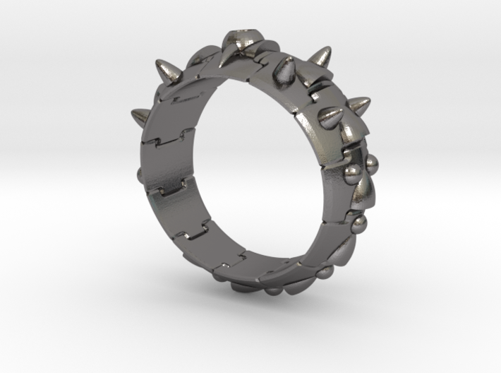 Armor Ring 01 (with stone hole) US13.5 3d printed