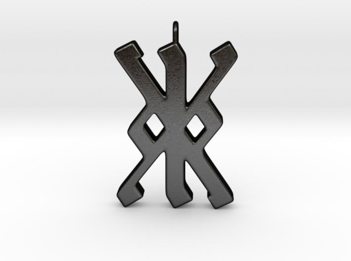 Rune Pendant - Kalc (kk) 3d printed