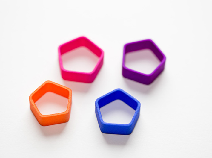 Poly5 Ring 3d printed Poly5 Ring in multiple colors