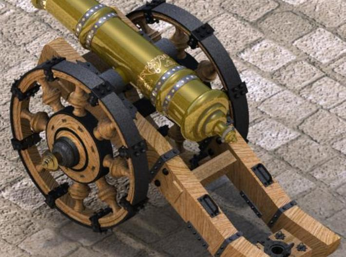 """Cannon Detailed 3"""" 3d printed"""