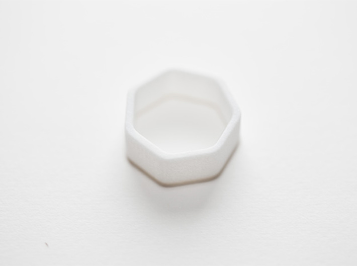 Poly7 Ring 3d printed Poly7 Ring in White Strong & Flexible